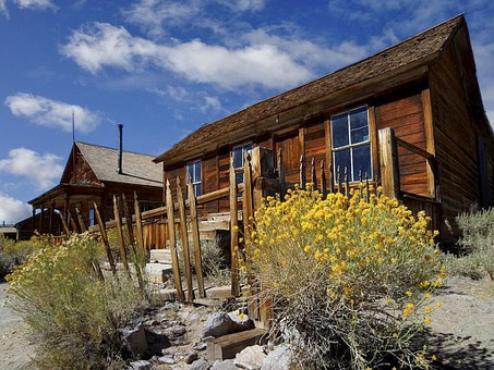 Ghost Town, Bodie, California, Usa, Gold Mine, Mining