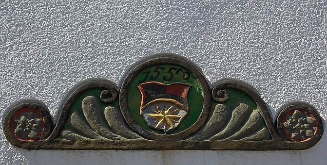 House, Ornament, Freiberg, Historically, Architecture