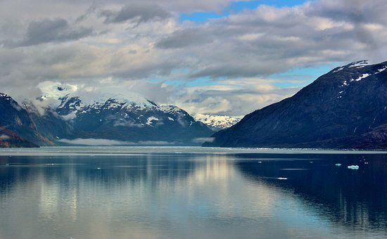 Antarctica, Sea, Ocean, Winter, Snow, Ice, Clouds