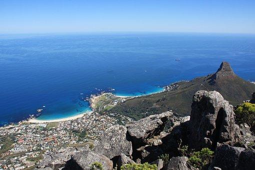 Cape Town, Kamps Bay, Table Mountain, Lionshead