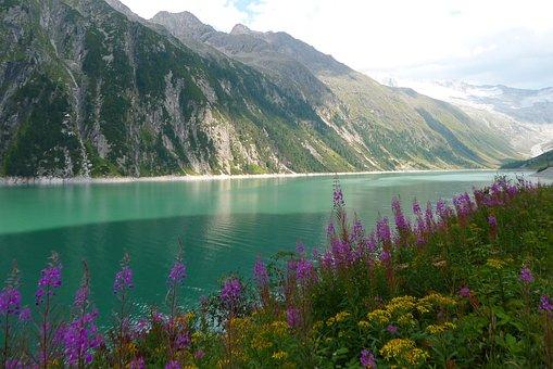 Lake, Bergsee, Reservoir, Landscape, Nature, Zillertal