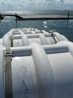 Liferafts, Life Raft, Ship, Boat Trip, Lifeboats