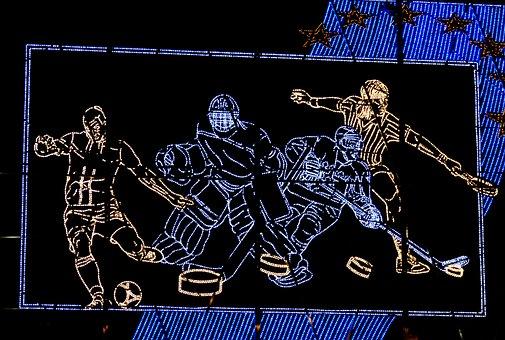 Billboard, Light Emitting Diodes, Sport, Ice Hockey