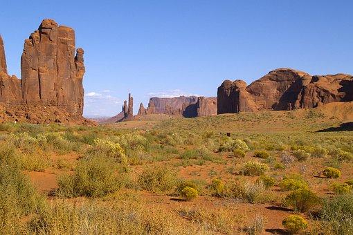 Graceful, Monument Valley, Utah, Usa, Erosion, Desert