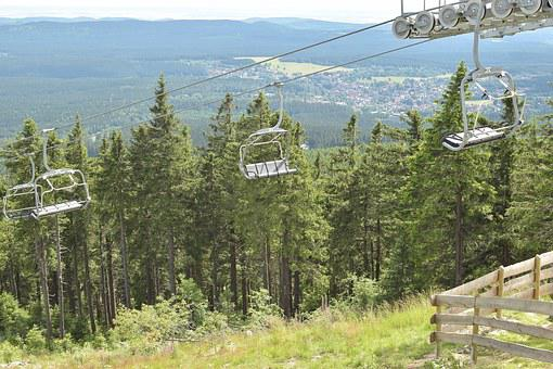 Chairlift, Landscape, Mountains, Highlands, Braunlage