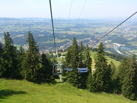 Chairlift, Immenstadt, Lunch Train, Mountains