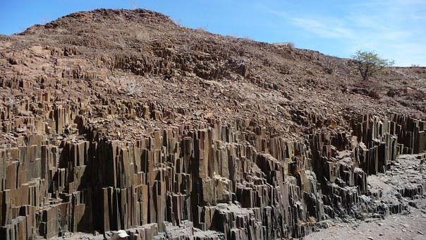 Gorge Of The Organ Pipes, Basalt, Namibia, Africa, Rock