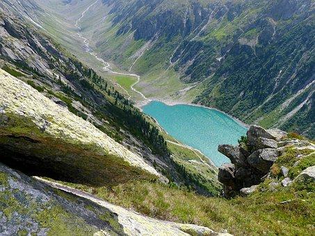 Lake, Bergsee, Nature, Landscape, Zillertal-austria