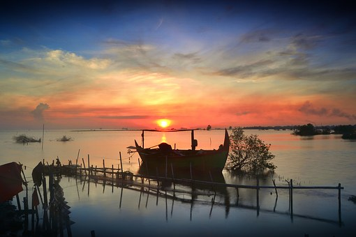 Landscape, View, Sea, Morning, Nature, Boat, Travel