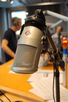 On Air, Microphone, Radio, Recording, Journalism