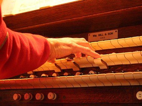 Church Organ, Organ, Pipe Organ, Keyboard, Keys, Piston