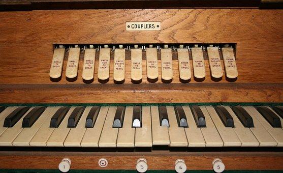 Organ, Church Organ, Pipe Organ, Pistons, Thumb Piston