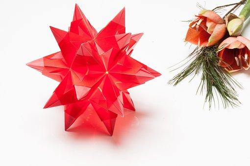 Poinsettia, Origami, Art Of Paper Folding, Fold