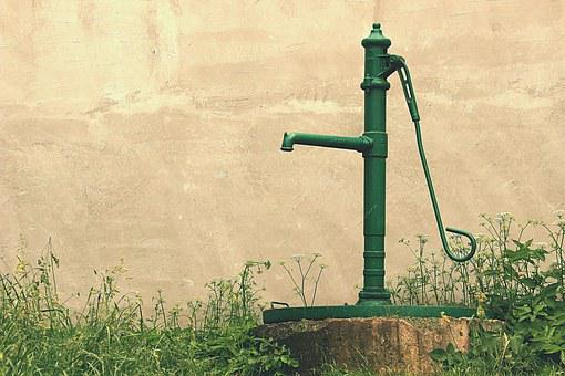 Water, Pump, Old Man, Hand, Well, Garden, Countryside
