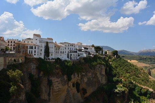 Ronda, Andalusia, Spain, Gorge, Mountains