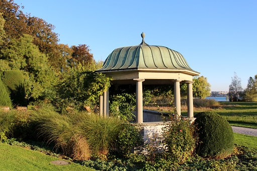 Building, Pavilion, Columnar, Roof, Dome, Autumn, Park
