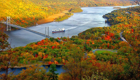 Landscape, River, Scenic, Autumn, Autumn Background
