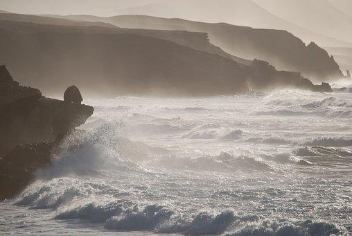 Fuerteventura, Coast, Sea, Canary Islands, Vacations