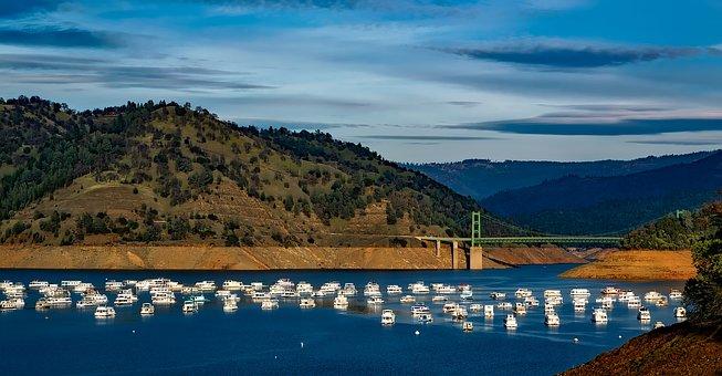 Lake Oroville, California, Ships, Boats, Landscape