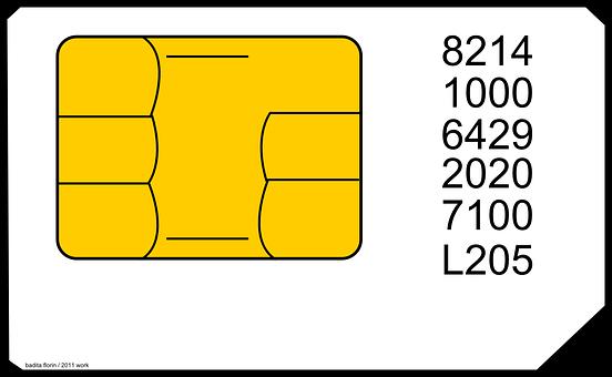 Sim Card, Mobile, Mobile Phone, Identification
