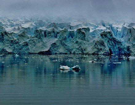 Antarctica, Glacier, Sea, Ocean, Water, Winter, Snow