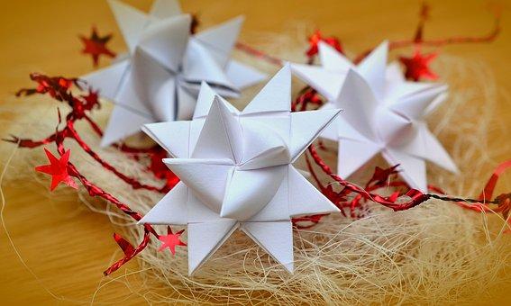 Star, Froebelsterne, Paper, Christmas, Fold, Decoration