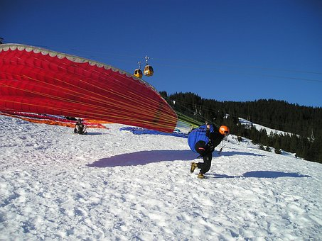 Paragliding, Start, Elevator Phase, Pull Up, Take Off