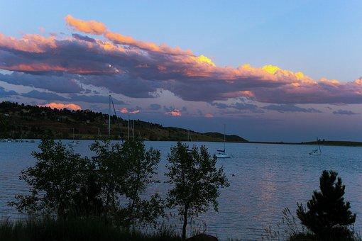 Carter Lake Colorado, Sunset, Mountain Lake