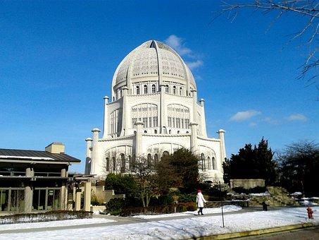 Temple, Baha'i, Wilmette, Openwork, Architecture