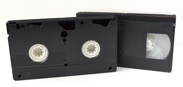 Vhs, Video, Tapes, Recording, Videotape, Retro