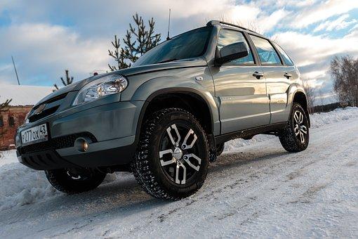 Car, Winter, Drives, Niwa, Chevrolet, Jeep, Suv, Road