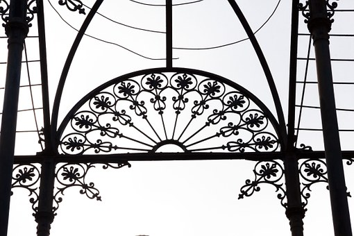 Wrought Iron, Pavilion, Free Standing, Slightly