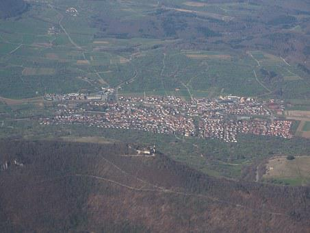 Aerial View, Luftbildaufnahme, Swabian Alb, Teck