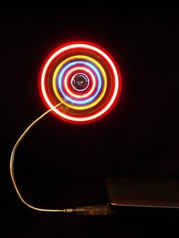 Fan, Air, Cooling, Rotate, Led, Neon, Neon Colors