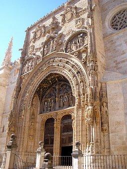 Aranda De Duero, Santa Maria, Curch, Portal, Religious