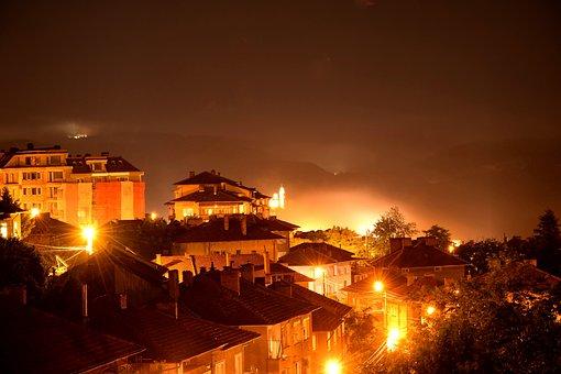 Veliko Tarnovo, Tsarevets, Night, Beautiful