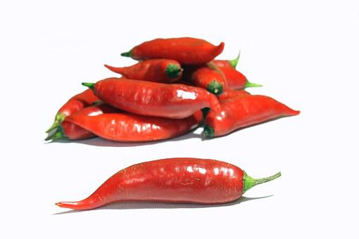 Pepper, Chili Finger Lady, Seasoning, Burning Sensation