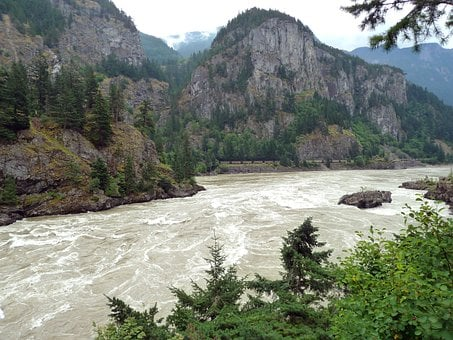 Fraser River, British Columbia, Canada, Rushing Water
