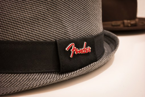 Hat, Fedora, Fender, Checkered, Houndstooth, Stetson