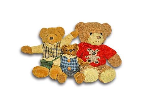 Bear, Children Toys, Bear Family, Soft Toy, Teddy Bear