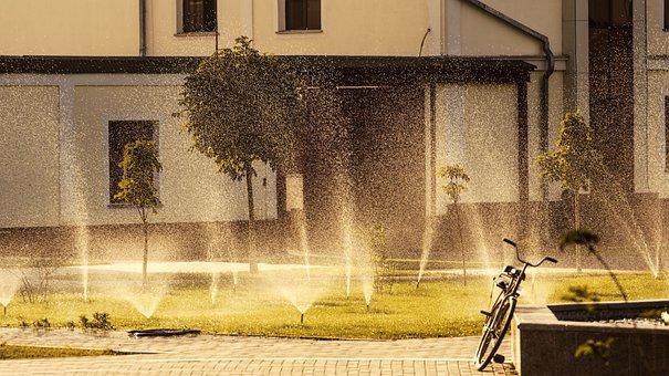 Fountain, Bike, Samarkand, City, Uzbekistan