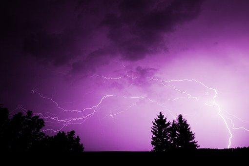 Thunderstorm, Lightning Bolt, Clouds, Danger, Dark