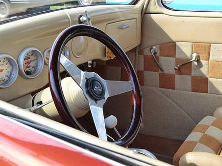 Car, Steering Wheel, Dashboard, Dress, Exhibition