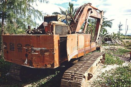 Construction, Machine, Excavator, Equipment, Industry