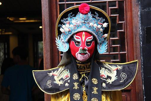 Mask, Costume, China, Cultural, Show, Colorful, Face