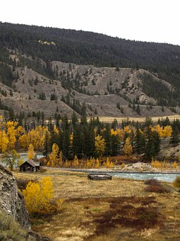Chilcotin River, British Columbia, Canada, River, Fall