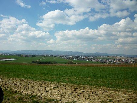 Meadow, Outlook, Fields, Arable, Landscape, Hesse