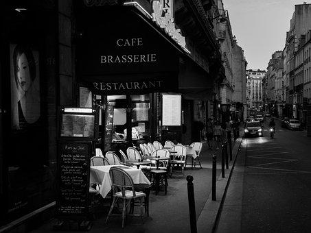 Brasserie, Restaurant, Paris, France, Cafe, Table
