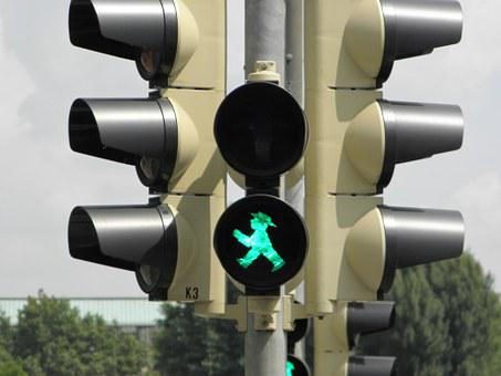 Little Green Man, Traffic Lights, Green, Go