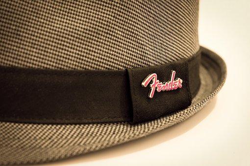Hat, Fedora, Fender, Checkered, Houndstooth, Hutkrempe